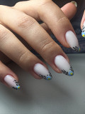 Маникюр с укреплением ногтевой пластины и покрытием гель лак Арамиль